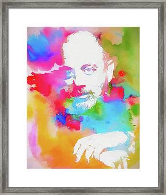 Billy Joel Watercolor Framed Print by Dan Sproul