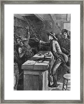 Billy The Kid 1859-81, Shooting Framed Print by Everett