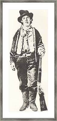 Billy The Kid Framed Print by American School