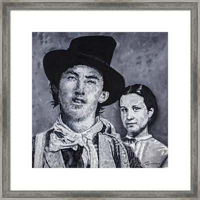 Billy The Kid And Paulita Framed Print