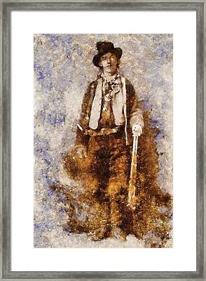 Billy The Kid Framed Print by Esoterica Art Agency