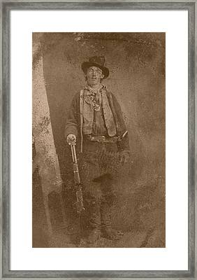 Billy The Kid Framed Print by War Is Hell Store