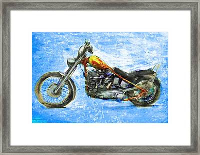 Billy's Bike Framed Print by Russell Pierce