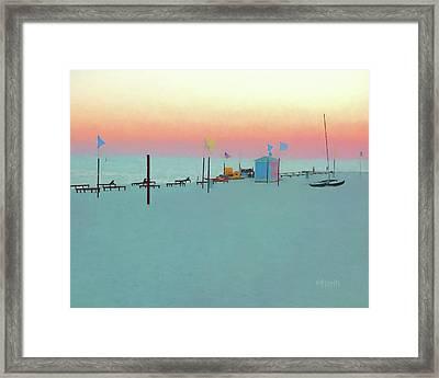 Biloxi Beach Sunset - Pastel In Paradise Framed Print by Rebecca Korpita
