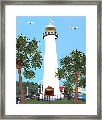 Framed Print featuring the painting Biloxi Lighthouse by Frederic Kohli