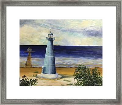 Biloxi Lighthouse Framed Print