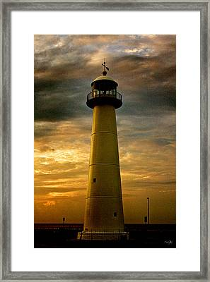 Biloxi Lighthouse - Sunrise Framed Print