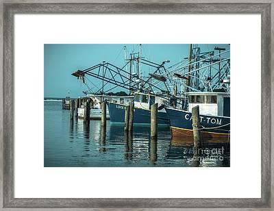 Biloxi Shrimpers Framed Print by Ron Buskirk