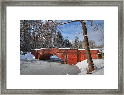 Biltmore Bridge In Snow Framed Print