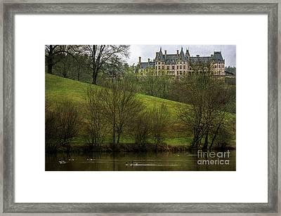 Biltmore Estate At Dusk Framed Print