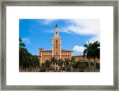 Framed Print featuring the photograph Biltmore Hotel by Ed Gleichman