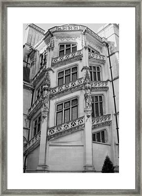 Biltmore House Spiral Stairwell Framed Print by Edmund Akers