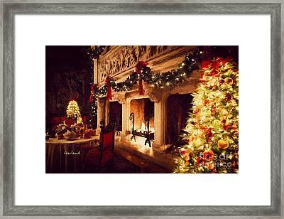 Biltmore House Triple Fireplace Framed Print