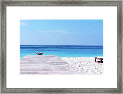 Bimini Beach Club Framed Print