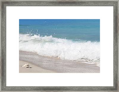 Bimini Wave Sequence 5 Framed Print
