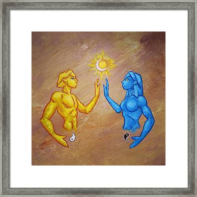 Binary Oppositions Framed Print by Brandy Woods