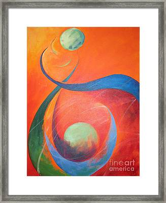 Binary Framed Print by Pax Bobrow