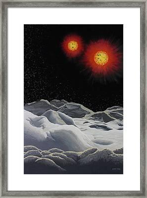 Binary Red Dwarf Stars 2 Framed Print