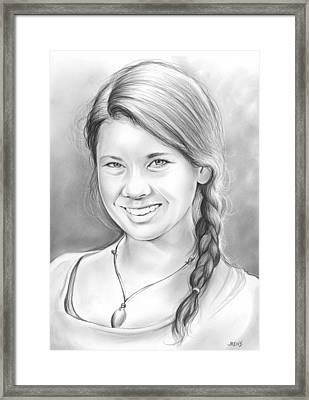 Bindi Irwin Framed Print by Greg Joens