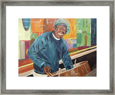 Framed Print featuring the painting Bing Bang Broadway Blues by Kevin Callahan