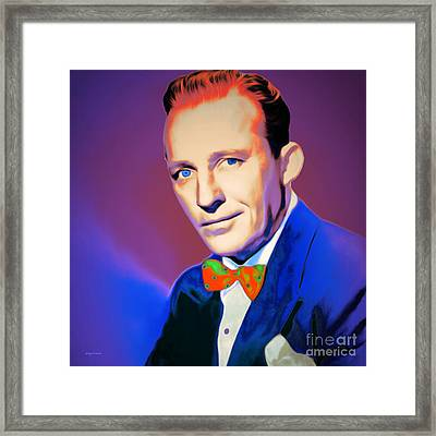 Bing Crosby 20151226 V2 Square Framed Print by Wingsdomain Art and Photography