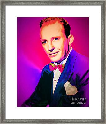 Bing Crosby 20151226 Framed Print by Wingsdomain Art and Photography