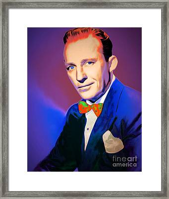 Bing Crosby 20151226v2 Framed Print by Wingsdomain Art and Photography