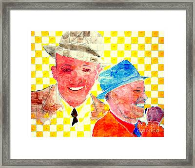 Bing Crosby And Frank Sinatra 1 Framed Print by Richard W Linford