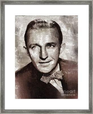 Bing Crosby By Mary Bassett Framed Print