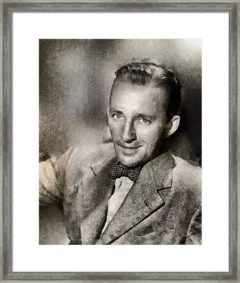 Bing Crosby, Singer And Actor Framed Print by John Springfield