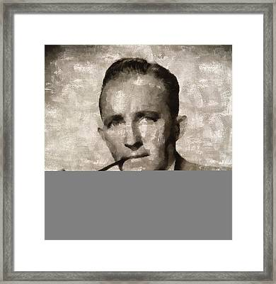 Bing Crosby, Singer And Actor Framed Print