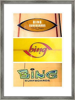 Bing Surfboard Graphics Framed Print