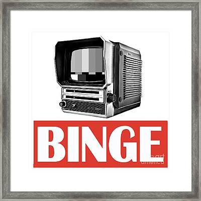 Binge Framed Print by Edward Fielding