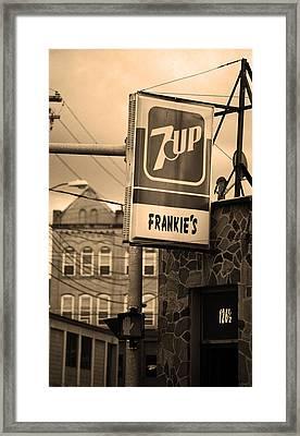 Binghampton New York - Frankie's Tavern Framed Print by Frank Romeo