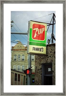 Binghamton New York - Frankie's Tavern Framed Print by Frank Romeo