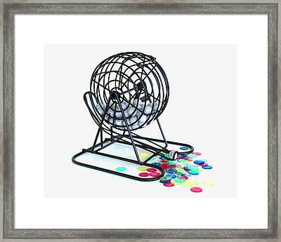 Bingo Cage Framed Print by Allan  Hughes