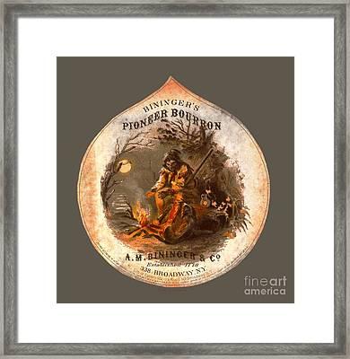Biningers Pioneer Bourbon C1859 Framed Print