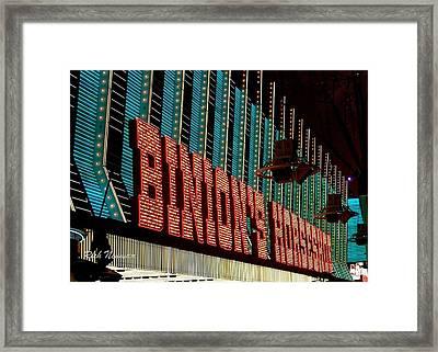 Binions Marquee Framed Print