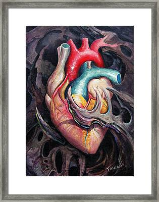 Bio Heart Framed Print