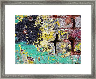Biography Of A Wall 1 Framed Print by Sarah Loft