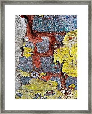 Biography Of A Wall 11 Framed Print by Sarah Loft