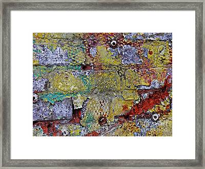 Biography Of A Wall 9 Framed Print by Sarah Loft