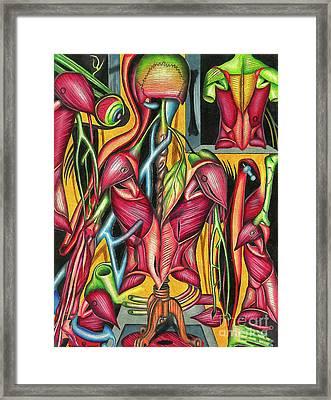 Biological Fusion Framed Print