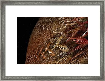 Biosphere Struggle Framed Print