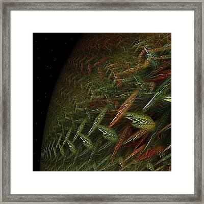 Biosphere Threatened Framed Print