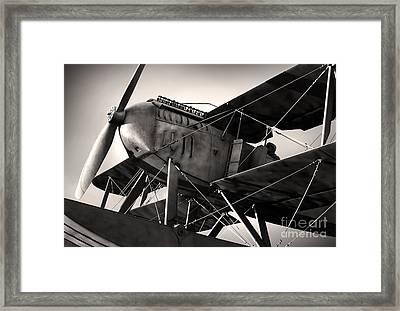 Biplane Framed Print by Carlos Caetano