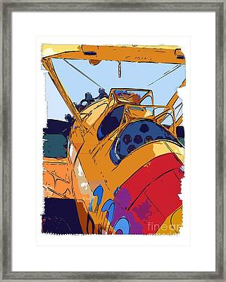 Biplane Framed Print by Diane E Berry