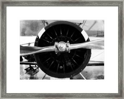 Biplane Propeller Framed Print by Matt Hanson