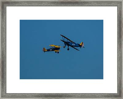 Biplanes Near Collision 5x7 Framed Print