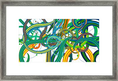 Bipolar Mania Rollercoaster Abstract Framed Print by William Braddock